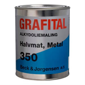 Beck og Jørgensen 350 Grafital Metalmaling Grafitgrå